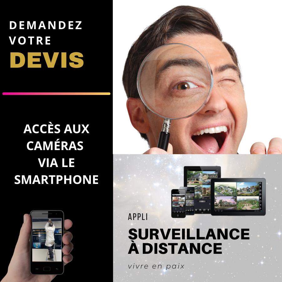Application surveillance de biens a distance